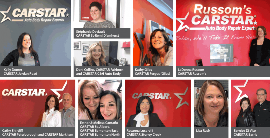 Collage of women in CARSTAR