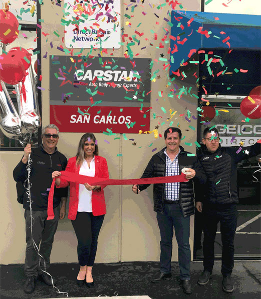 Celebrating a grand opening in San Carlos